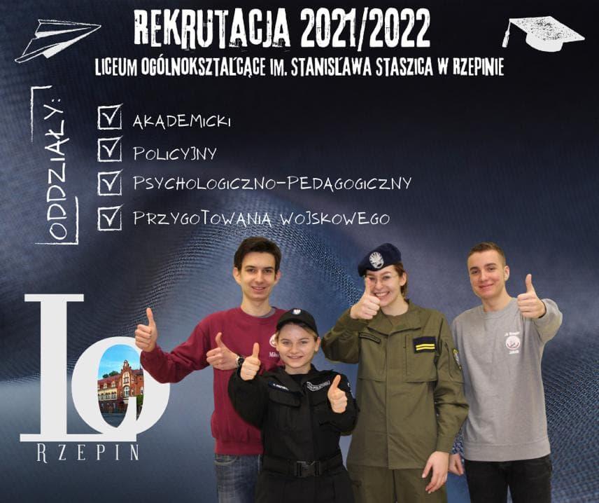 Plakat - rekrutacja do LO w Rzepinie